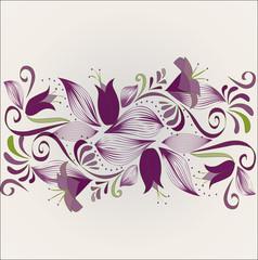 Horizontal purple ornament