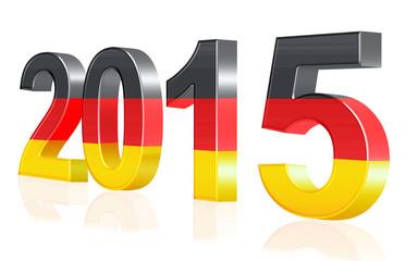 Jahreszahl 2015 scharz, rot,gold, deutschlandflagge,freigestellt