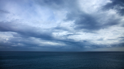 dramatic stormy sky over the ocean - Canary Islands, storm of no
