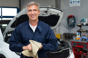 Smiling Auto Mechanic