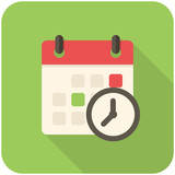 Meeting Deadlines icon poster