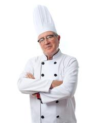 senior cool man proud cheff