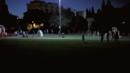 Background establishing shot park night 10