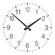 Simple classic vector clock placed on white - 74012080