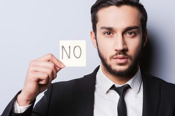 I said No.