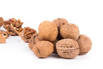 Close up of walnuts.