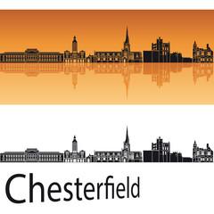 Chesterfield skyline in orange background