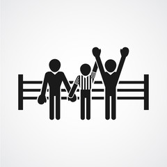 winner of a boxing match icon