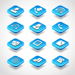 Call Center Isometric Icons