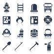 Firefighter Icons Black - 74013832