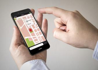 map touchscreen smartphone