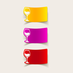 realistic design element: wineglass