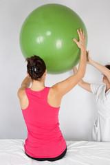soins avec le ballon