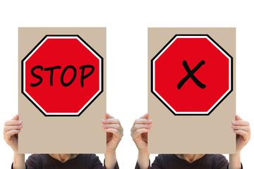 Stop ! Personnes en Colère - Manifestation