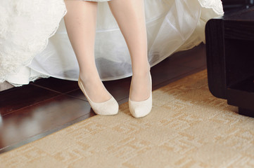 Bride in White Shoes