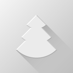 White Abstract Christmas Tree