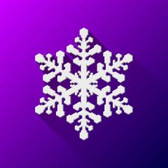 White Abstract Christmas Snowflake Sign