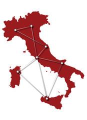 mappa italia collegamenti