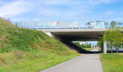 viaduct with bicycle lane