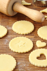 Process of baking homemade shortbread cookies