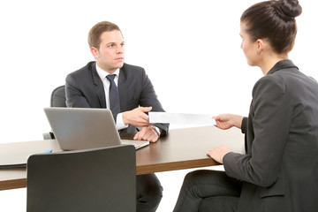 Gespräch zwischen Kollegen