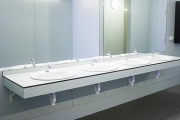 Washbasins with mirror