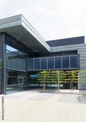 solar panels on office building - 74016017