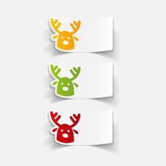 realistic design element: christmas deer