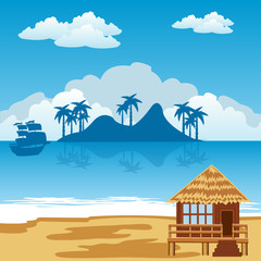 Tropical island and seaside