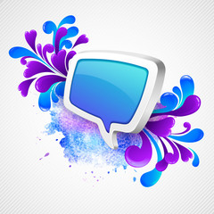 Speech bubble and swirling pattern. Vector illustration