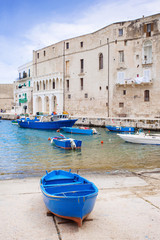 Boats at old harbor, Monopoli, Italy