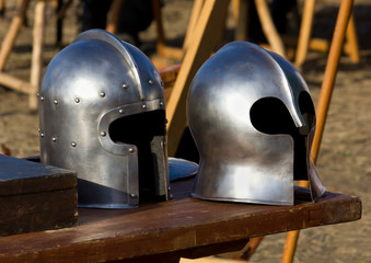 Two Medieval Helmets