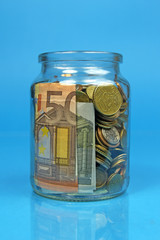 jar filled with money