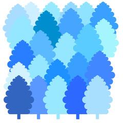 winter trees vector illustration