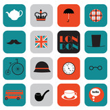 flat London icons - 74018445