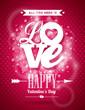 Obrazy na płótnie, fototapety, zdjęcia, fotoobrazy drukowane : Valentines Day illustration with Love typography design