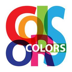 Vector colors. Broken text