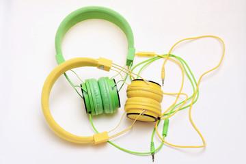 Yellow Green Headphones