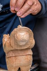 Skilful carver