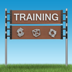 Training sign