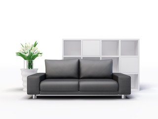 3d illustration interior