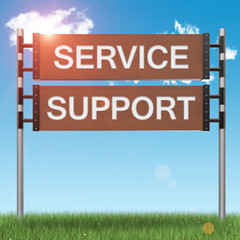 Business support concept sign
