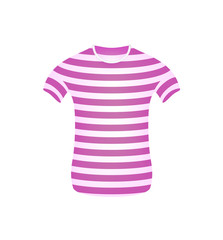 Striped t-shirt in pink and white design