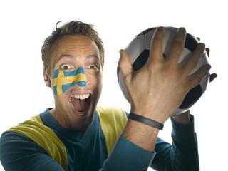 Schwedischer Fußballfan