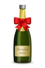 Sektflasche Silvester 2015