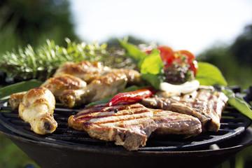 Fleisch auf Grill, close-up