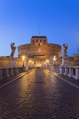 Italien, Rom, Schloss Sant 'Angelo, Engelsbrücke