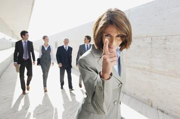 Spanien, Geschäftsfrau Gestik, Geschäftsleute