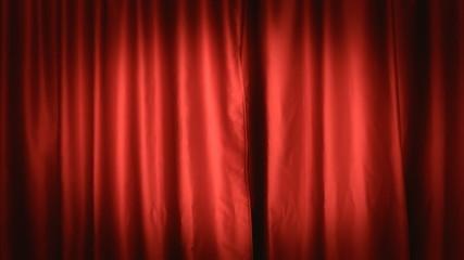 Background establishing shot curtain red front