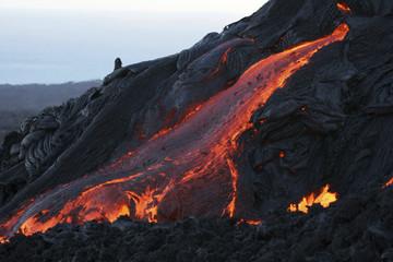 Hawaii - pahoehoe Lava Lavastrom fließen
